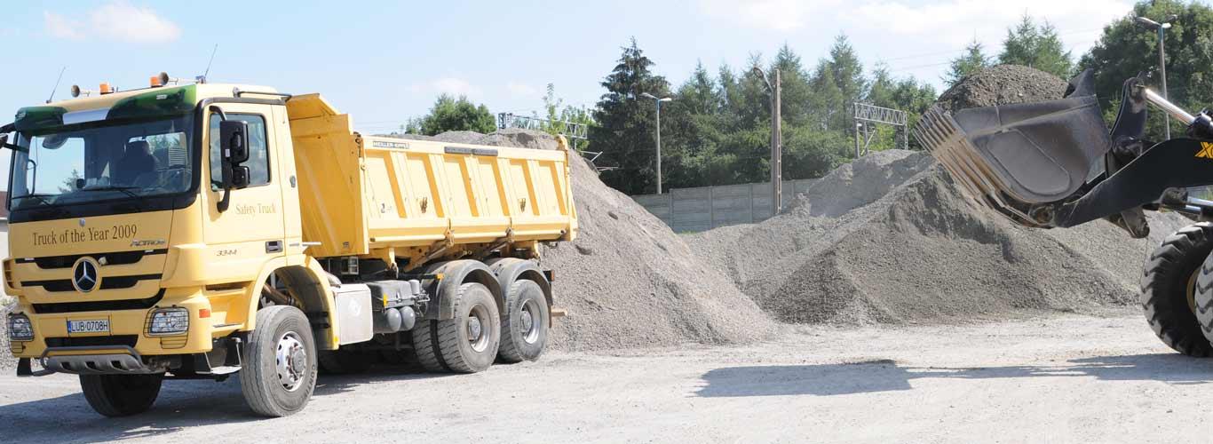 Kruszywa drogowe lubelskie z transportem. Podbudowa utwardzanie dróg Lublin