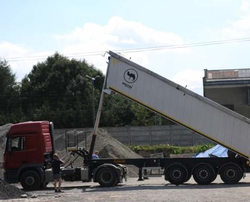 Transport materiałów sypkich lubelskie. Kruszywa drogowe