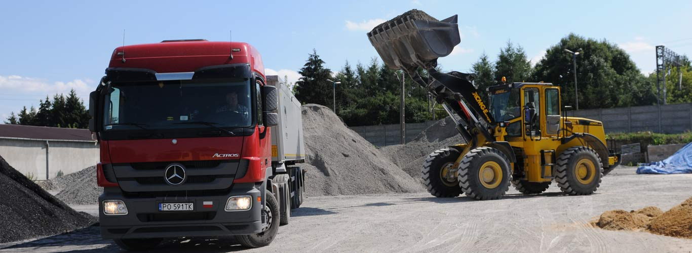 Transport kamienia lubelskie Migrola, kruszywo drogowe
